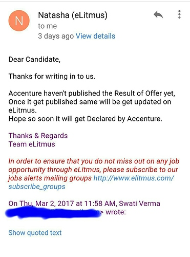 Accenture Offer Letter From Th Feb Drive Bangalore  Companies And
